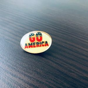 """Other - Vintage """"Go America"""" Pin 90s Olympics"""